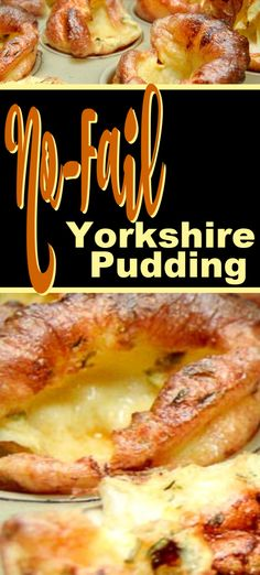 No fail recipe for easy Yorkshire pudding. A great accompaniment to roast beef, prime rib or a steak dinner. No fail recipe for easy Yorkshire pudding. A great accompaniment to roast beef, prime rib or a steak dinner. Roast Beef Side Dishes, Roast Dinner Sides, Side Dishes For Ribs, Roast Beef Recipes, Dinner Menu, Sides For Roast Beef, Recipes Dinner, Easy Yorkshire Pudding Recipe, Yorkshire Pudding Recipes