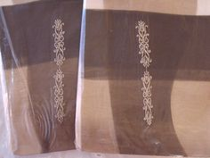 Embroidered stockings, NOS, at RetroRosiesVintage on Etsy