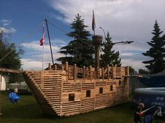 """A Pirate Ship in our back yard"" (Submitted by Diane Tolley)"