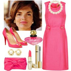 Jackie Kennedy Onassis, created by ivanamb on Polyvore  www.pinkpillbox.com
