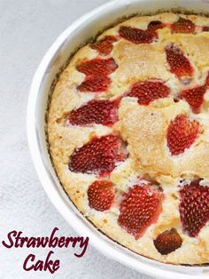 Strawberry Cake: Different, delightful, another keeper. Used less sugar, worked fine.