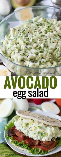 BLT Avocado Egg Salad is a delicious twist on a family favorite! Bacon, lettuce, tomato, avocado and of course egg all smothered in a creamy dressing create a salad that is truly unique! #ad