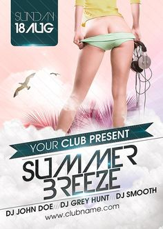 Free Flyer: Summer Breeze Flyer Template - http://www.freepsdflyer.com/free-flyer-summer-breeze-flyer-template/ Free Flyer: Summer Breeze Flyer Template - Flyer template, perfect for nightclub events and all white parties.  #Club, #Diva, #EDM, #Electro, #Ladies, #Lounge, #Night, #Nightclub, #Party, #Sexy, #SpringBreak, #Summer