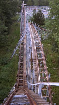 Blue Streak | Conneaut Lake Park | USA.  Scariest ride I've ever been on...it felt like it could crumble at any second.