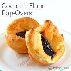 Coconut Flour Pop-Overs: Paleo friendly and totally grain free! Yum! #paleo #grainfree #coconutflour