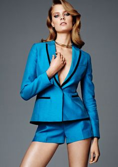 Love shorts suits! Especially in this color! (I already bought the shoes that match!)  H & M's New Conscious Collection