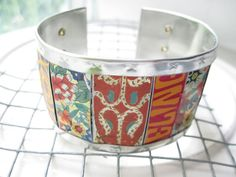 Orange Mixed Tin Cuff10th Anniversary Tin Can by eaststreettins, $46.00