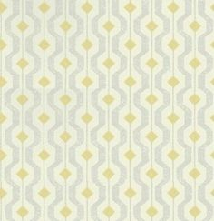 Solstice (EW15010/764) - Threads Wallpapers - An all over geometric design wallcovering. Shown here in lime green and grey on an off white background. Other colourways are available. Please request a sample for a true colour match. Paste-the-wall product.