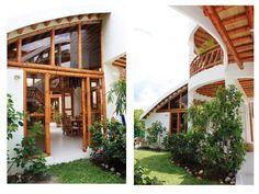Detalles puertas y techos con guadua