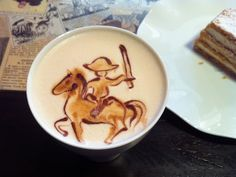 coffee art - if I was at a coffee shop and I got this as my coffee I would love the person that made my coffee!!!