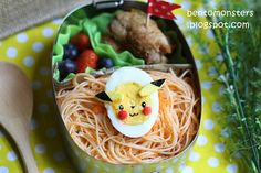 Pikachu ECOlunchbox Bento lunch!
