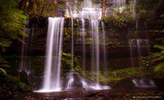 Russell Falls and horse shoe falls , Hobart, Tasmania