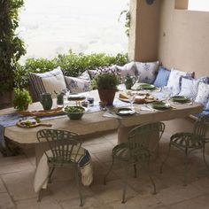 Provencal-style outdoor dining area