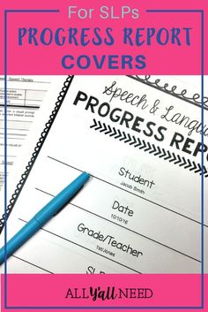 Suddenly, the prospect of writing multiple progress reports makes us lie on the ground in the fetal position. To help with your sanity, and to keep people from wondering why the SLP is speechless, we've rounded up a few tips to help SLPs get through progress reports. #SLPReports #SLPIdeas #SpeechTherapyClassroom #ProgressReports Speech Therapy Activities, Language Activities, Speech Language Pathology, Speech And Language, Reported Speech, Progress Report Template, Receptive Language, Teacher Blogs, Classroom Organization