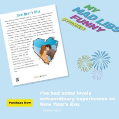 Competitions For Kids, Funny New Year, Mad Libs, Parts Of Speech, Debbie Harry, New Years Eve, Marketing And Advertising, Told You So, Classroom