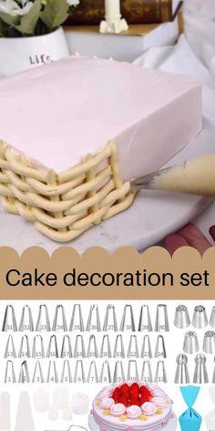 Cake Decorating Frosting, Cake Decorating Designs, Decorator Frosting, Creative Cake Decorating, Cake Decorating Videos, Cake Decorating Techniques, Creative Cakes, Cake Designs, Cookie Decorating