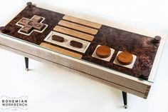 Video game controller table