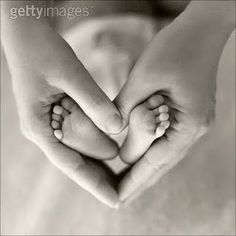 Heart, hands, & baby feet