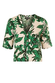 Short Sleeve Tropical Print Shirt | Topshop