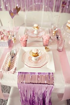 Glittery and glitzy Valentine's Day party