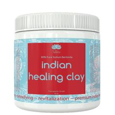 Indian Healing Clay is 100% Organic and will leave your skin deeply cleansed and detoxified while fully revitalizing your overall look. The electromagnetism will cleanse and soothe your skin by drawing out heavy metals, free radicals, and toxins for your skin's surface.
