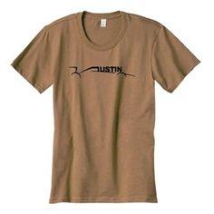 Austin car t-shirt in Ladies Mocha Brown by THE AUSTIN GRAND PRIX $19.99