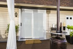 used Simonton's new Inovo patio door because it is the epitome of performance and design. Patio Doors, Exterior Doors, Old Houses, Windows, Furniture, Design, Home Decor, Decoration Home, Outdoor Gates
