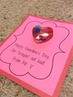 Valentine crayon project... Cheap and easy! Mr. First Grade