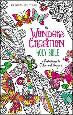 NIV Wonders Of Creation Holy Bible Hardcover Illustrations To Color And Inspire Cover