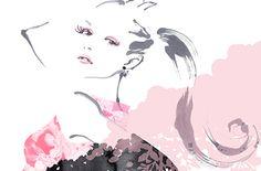 Japanese Bonsai Tree, Pin Up Illustration, Anime, Painting, Graphics, Black, Fashion, Moda, Graphic Design