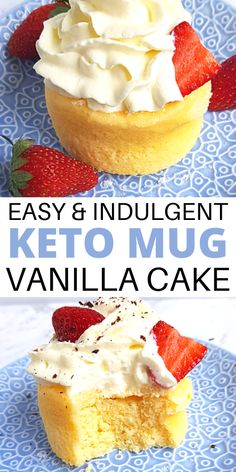 Crazy-good keto vanilla cake in a mug recipe. If you're looking for keto friendly desserts, try this simple keto mug cake! Learn how to make an easy keto vanilla mug cake for one no egg mug cake! #ketodesserts #ketomugcake Keto Desserts To Buy, Quick Keto Dessert, Keto Friendly Desserts, Low Carb Desserts, Healthy Desserts, Diabetic Desserts, Chocolate Chip Mug Cake, Chocolate Frosting, Butter Frosting