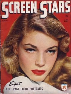 "Lauren Bacall. Robert: ""She just looks pissed off all the time. Maybe that's why you like her. ha ha"""