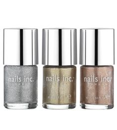 Pin for Later: Shine On This Spring With the Sexiest Metallic Makeup Nails Inc Metallics Collection Nails Inc Metallics Collection Us Nails, Nails Inc, Beauty Bay, Diy Beauty, Bella Beauty, Metallic Makeup, Hair Skin Nails, Nail Polish Collection, Nail Trends