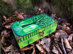 SALE Fairy spell box, Hand painted, wooden box, Green, Prosperity by Faerysayles on Etsy https://www.etsy.com/listing/224960791/sale-fairy-spell-box-hand-painted-wooden