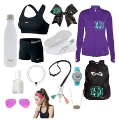 """""""Workout outfit"""" by southernannabelle ❤ liked on Polyvore featuring NIKE, Chassè, Asics, Vera Bradley, Paul Smith, Anuschka, Everest, Tiffany & Co., Essie and Timex"""