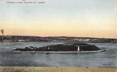 Georges Island Halifax Nova Scotia Canada Valentine Black Postcard | eBay