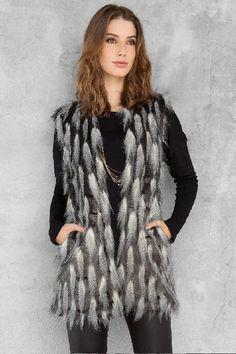 Easton Faux Fur Vest $68.00