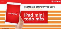 Quer concorrer a 1 iPad Mini por mês?  Participe da promoção STRIPE UP YOUR LIFE!  Você pode ganhar esse e muitos outros prêmios legais.  Confira o regulamento e poste sua foto, ilustração ou vídeo: https://www.facebook.com/StabiloBrasil/app_595707097132587