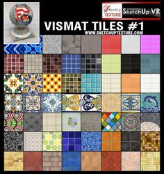 SKETCHUP TEXTURE: V-RAY FOR SU VISMAT TILES COLLECTION #1