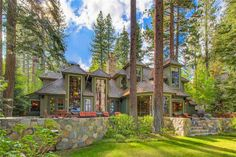 Exterior of luxury home in Tahoe City, California