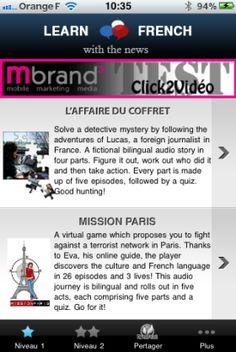 """Une nouvelle application iPhone de RFI et TV5 Monde : """"Apprendre le français par l'info"""""""