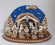 Today we are looking at Moravian and Bohemian gingerbread designs from the Czech Republic. Back home, gingerbread is eaten year round and beautifully decorated cookies are given on all occasions. Christmas Gingerbread House, Christmas Nativity, Gingerbread Man, Gingerbread Cookies, Christmas Cookies, Christmas Crafts, Christmas Decorations, Christmas Printables, Fancy Cookies