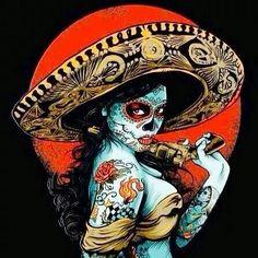 El dia de los MUERTOS: Artist unknown.