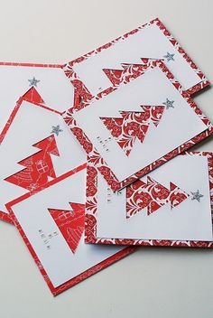 Amca Design: PROJECTS - Christmas cards Die Cut Christmas Cards, Christmas To Do List, Christmas Makes, Christmas Crafts For Kids, Xmas Cards, Christmas Diy, Christmas Decorations, Theme Noel, Winter Cards