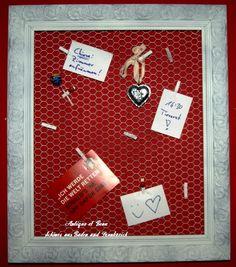 Vintage Aufbewahrung - Vintage Shabby Pinwand Schmuckhalter Bilderrahmen - ein Designerstück von Antique-et-Beau bei DaWanda Shabby, Your Cards, Banner, Etsy, Vintage, Antiques, Picture Frames, Hang In There, Creative