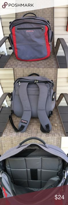 """Jansport computer backpack Very nice backpack, padded inside holds 13"""" computer and room for books, 5 zip pockets, handle on top, padded adjustable straps. EUC, 100% nylon, no stains or holes.16""""W x 16""""L Jansport Accessories Laptop Cases"""