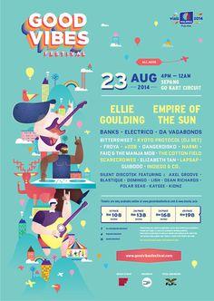 Good Vibes Festival 2014 on Behance
