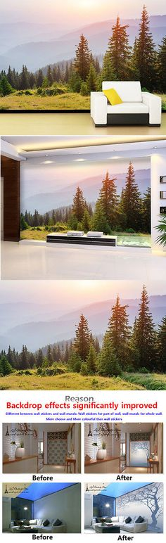 Other Wallpaper 52348: 3D Mountain, Pines Wall Murals Wallpaper Decal Decor Home Kids Nursery Mural -> BUY IT NOW ONLY: $139.99 on eBay!