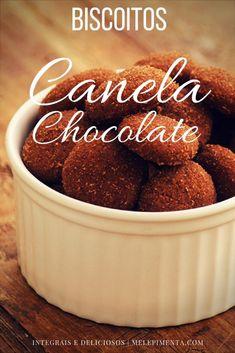 Biscoito integral de canela chocolate - Faça esses biscoitos saudáveis e deliciosos na sua casa. A receita é muito fácil.