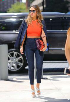 Jessica Alba in New York